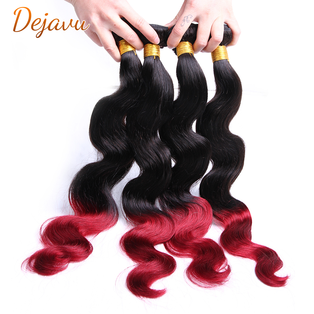 Dejavu1B 99j пряди эффектом деграде (переход от темного к бразильские волнистые волосы, для придания объема, вплетаемые пряди, бразильские вплета...