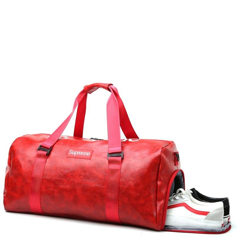 New Style Pu Fitness Gymnastic Valise Wet And Dry Separation Yoga Bag Shoulder Bag/ Hand Bag Over-the-shoulder Bag Have Separate