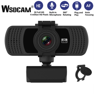 Wsdcam HD 1080P Webcam 2K Computer PC WebCamera with Microphone for Live Broadcast Video Calling Conference Work Camaras Web PC