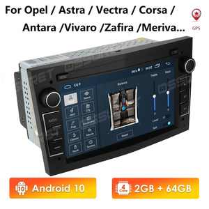 Hizpo 2 Din 2G+64G Android Car Radio NODVD GPS Stereo Player For Opel Astra H G J Vectra Antara Zafira Corsa Vivaro Meriva Veda