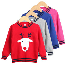Baby Girls SweatersKids Winter Clothes Cartoon Sheep Pattern 2019 Casual Toddler Warm Tops Sweater Clothing