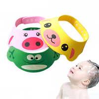 Bébé bonnet de bain childern lavage tête chapeau de soleil en plein air coupe réglable cheveux bonnet de douche lavage cheveux visière casquettes pour les soins de bébé