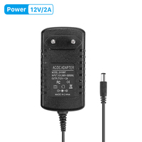 Dc 12 v 2a ac 100 v 240 v conversor adaptador dc 12 v 2a 2000ma fonte de alimentação ue uk au eua plug 5.5mm x 2.1mm para câmera ip cctv|Acessórios para CFTV| |  -