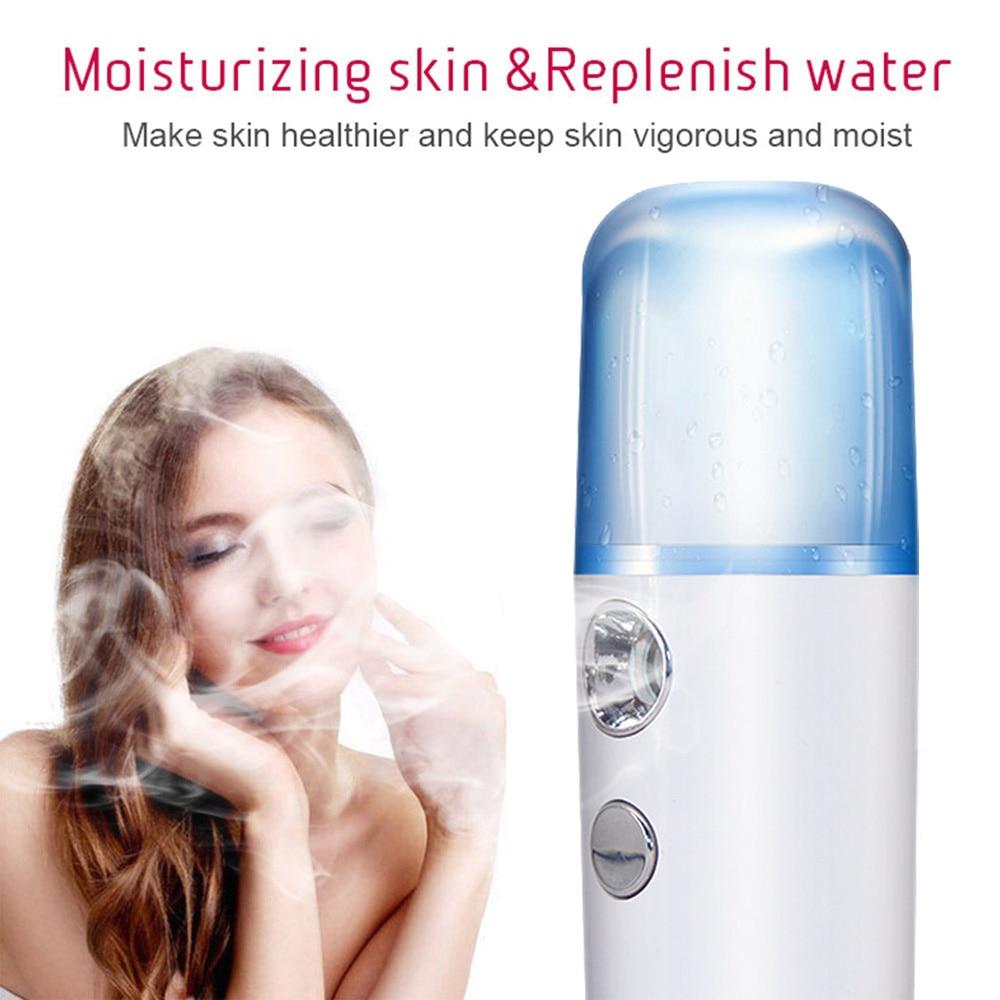 30ml Face Mist Spray Beauty Instruments Portable Mini Nano Sprayer Facial Body Nebulizer Steamer Moisturizing Skin Care Tools
