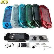 JCD Trong Suốt Màu Sắc Vỏ Dành Cho PSP3000 PSP 3000 Máy Chơi Game Thay Thế Full Nhà Ở Bao W/Nút Bộ