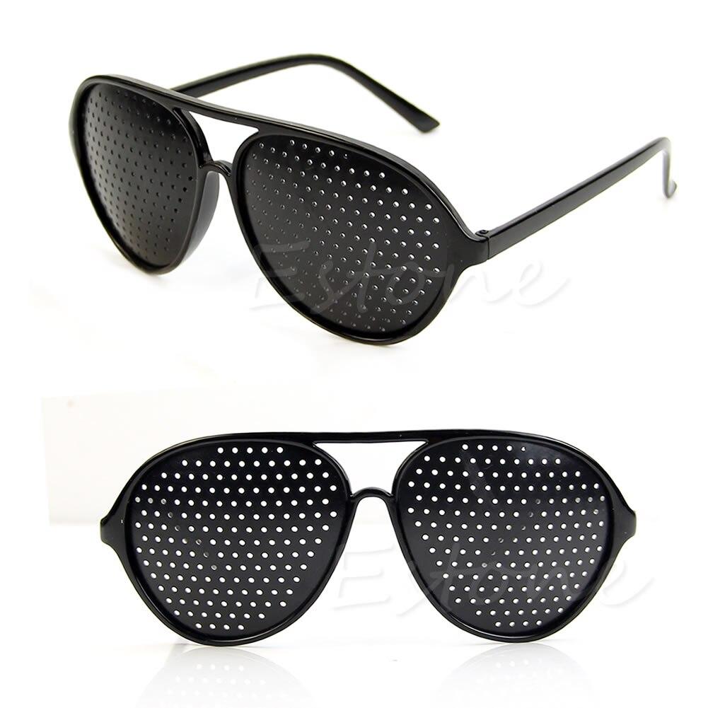 Anti-Fatigue Vision Care Eyesight Improver Pinhole Glasses Hole EYE Glasses NEW M2EA