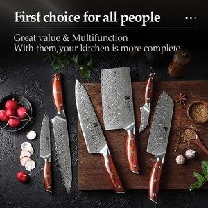 Image 5 - XINZUO Juego de cuchillos de cocina de acero damasco japonés, Santoku, 6 uds.