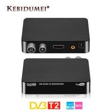Kebidumei HDMI HD 1080P DVB T2 Tuner récepteur décodeur Satellite numérique TV Box TV Tuner DVB T2 USB2.0 pour adaptateur moniteur