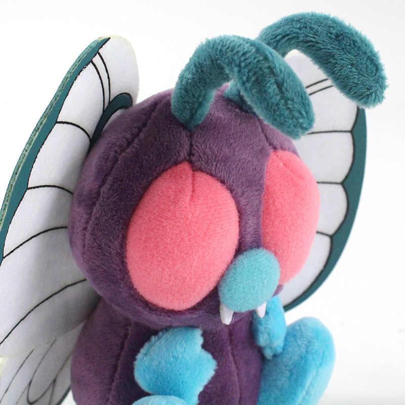 11cm anime butterfree macio pelúcia brinquedos hi-q anime dos desenhos animados pelúcia peluche peluche brinquedos animais de pelúcia macio bonito dos desenhos animados brinquedo