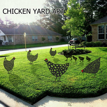 Gardening-Ornaments Decoration Yard Art Outdoor Stakes Lawn Chicken Hollow Acrylic Gift