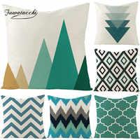 Fuwatacchi Geometric Cushion Cover Arrow Diamond Pillow Cover for Home Chair Sofa Decorative Pillows Yellow Linen Throw Pillows