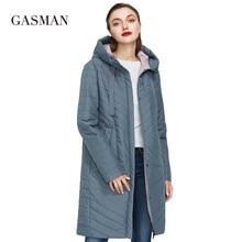 GASMAN 2020 Autumn fashion slim thin down jacket Women pocke