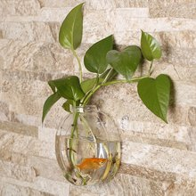 Sunflower Shaped Transparent Wall Hanging Vase Hydroponic Container Plant Flower Glass Bottle Home Office Wedding Decor transparent tabletop glass vase mini crystal hydroponic container terrarium plant flower pot vase home office wedding decor