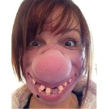 Funny Mask Hoalloween-Costume for Kids Half-Face-Mask Latex