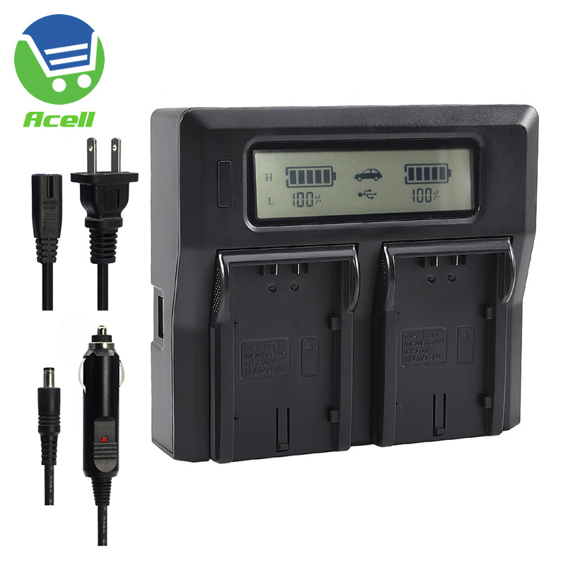 LCD Dual Battery Fast Charger For Panasonic AG-VBR59 VBR89 VBR118 VW-VBD29 VBD58 VBD78 VBD98 CGA-D54s D54 D54D CGP-D28S Battery