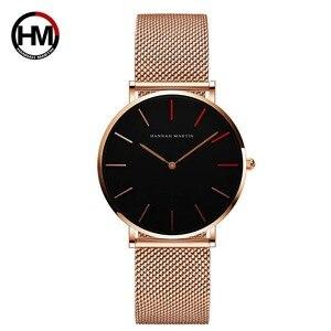 Image 1 - Frauen Uhren Mode Casual Japan Quarz Bewegung Wasserdichte Top Luxus Marke Edelstahl Mesh Armband Damen Armbanduhren
