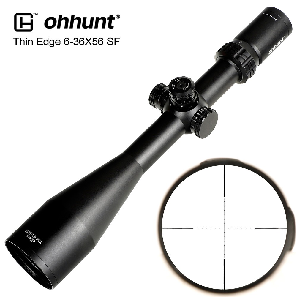 Ohhunt Thin Edge 6-36X56 SF Hunting Riflescope Mil Dot Reticle Scope With Side Parallax Turret Lock Reset Tactical Optical Sight