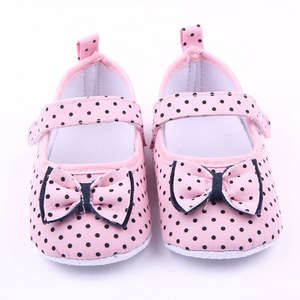 Shoes Baby Prewalker Girls Guaranteed Soft-Sole Cotton Dot 100%Soft