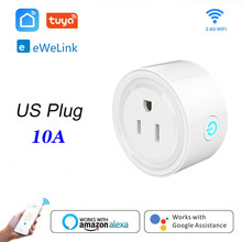 Wifi Smart socket Smart mini plug US WiFi remote control with Alexa Google home IFTTT Tuya eWeLink(China)