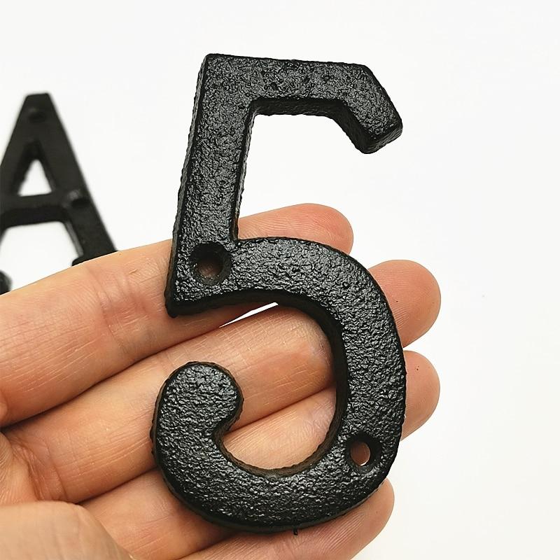 Черный железный сарай номер ворота из цифр от 0 до 9 Железный номер буквенный ярлык на полиуретановом ремешке двери табличка знак на дом реме...