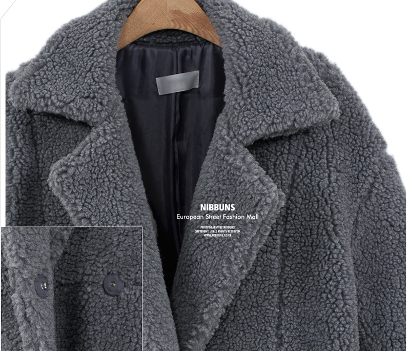 2019 autumn and winter new women's cotton jacket cashmere long-sleeved solid color long coat wool coat 20