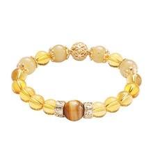 Новый дизайн 2020 браслеты для женщин с желтыми кристаллами