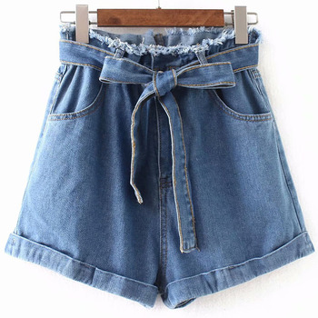 2020 Summer New Arrival European Style High Waisted Denim Shorts Slim & Comfortable Jeans Woman With Belt Free Shipping