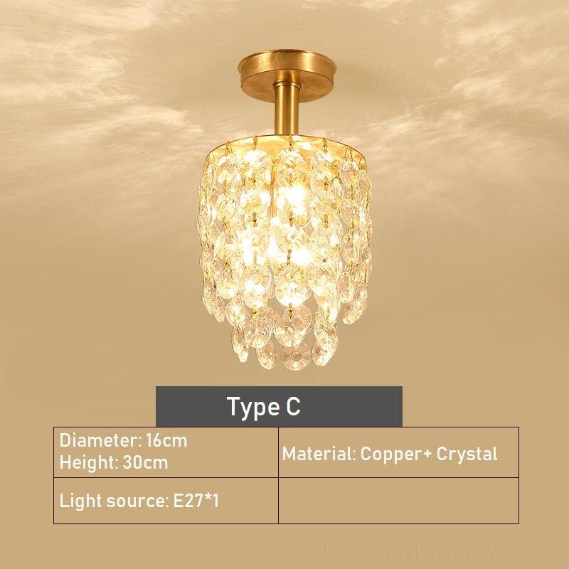 lukloy ouro cristal lampada do teto base 04