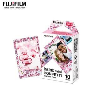 Image 4 - Véritable Fujifilm Instax Mini 8 Film confettis Fuji papier Photo instantané 10 à 50 feuilles For70 7s 50 s 90 25 partager SP 1 appareil Photo LOMO
