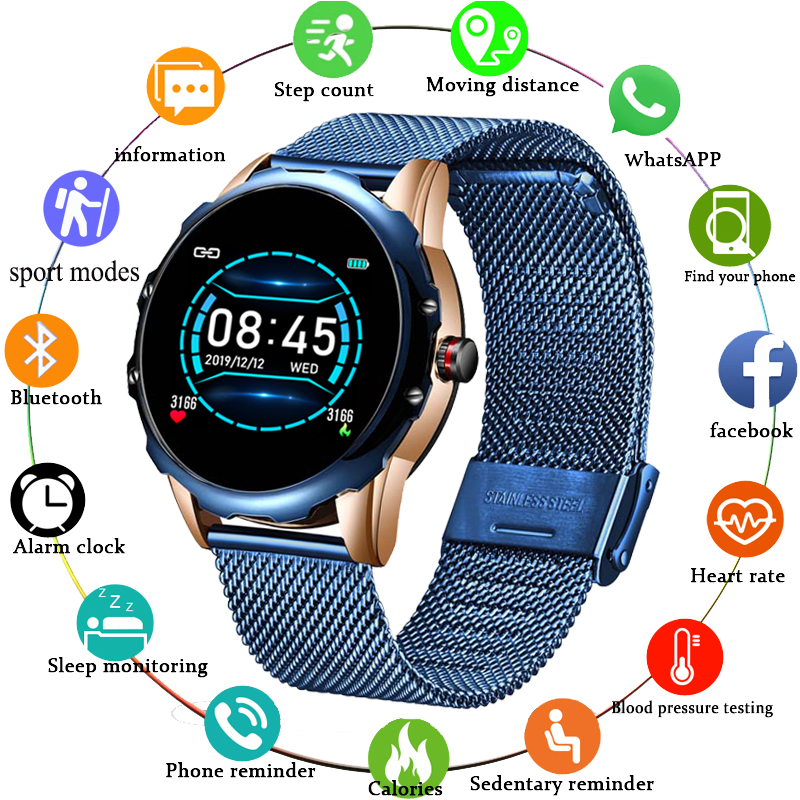 LIGE New Smart Watch Men Women For Android IOS Smartwatch lectronics Smart Clock Wach Fitness Tracker Top Smart-watch Wristwatch