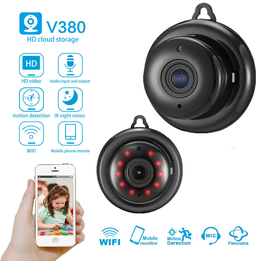 Mini Camera Wireless Wifi IP Camera Home Security IR CCTV HD DVR Night Vision APP Remote Baby Monnitor Wholesale