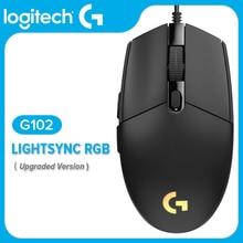 Logitech souris optique Gaming G102, LIGHTSYNC/prodige G203, 8000DPI, 16.8M, 6 boutons, filaire blanc et noir