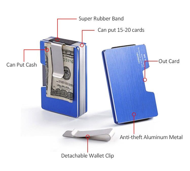 do cartão dos homens carteira saco dinheiro