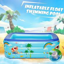 Family Children Cartoon Print Inflatable Floating Swimming Pool Outdoor Toys Bath Pool Kids Paddling Inflatable Bathtub A children playing pool intex cartoon shape inflatable swimming pool kids inflatable bathtub piscinas inflables game pool