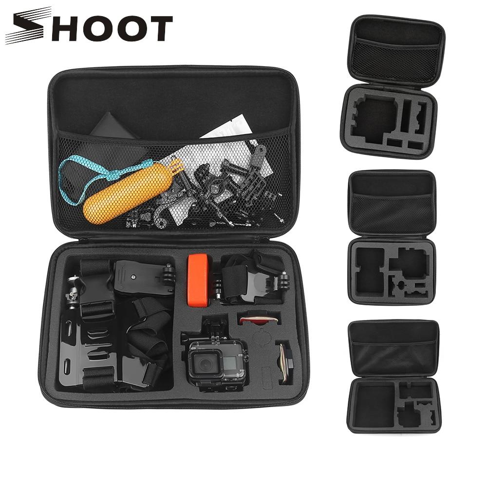 SHOOT Protable Eva Collection Case Camera Box For GoPro Hero 7 6 5 Black Session Xiaomi Yi 4K SJ4000 SJ5000 Sj7 SJCAM Accessory