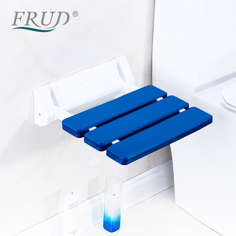 FRUD Wall Mounted Shower Seats Folding Chair Bathroom Stool Taburete Durable Relax Chair Toilet Bench For Shower Space Saving