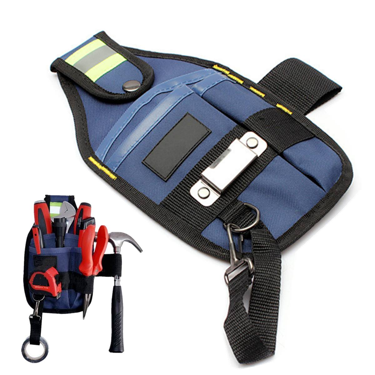 High Capacity 3-Pocke Tool Bag Waist Pockets Electrician Tool Bag Oganizer Carrying Pouch Tools Bag Belt Waist Pocket Case