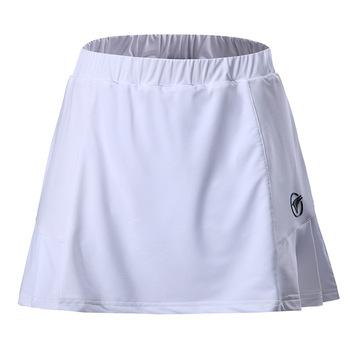 2019 lato w nowym stylu damska Casual sport spódnica tenis podzielona spódnica jednolity kolor Badminton odzież krótka spódnica pół długości Sk tanie i dobre opinie Solid Color China YUYF AK007
