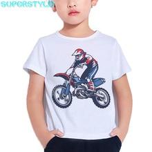 Motorcycle Motocross Print Hipster Kids T Shirt  Baby Boys Cool T Shirt for Summer 2021 Camiseta Toddler White Girl Tops DHKP193