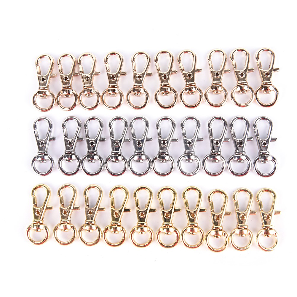 10Pcs Metal Mini Rotatable Buckle Hook Lobster Key Chain High Quality Carabiner For Bag Parts & Accessories