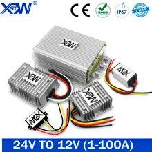 Преобразователь постоянного тока 24 В в 12 В 40 А 5A 8A 10A 20A 100A 50A понижающий 24 В до 12 В понижающий регулятор напряжения CE для солнечных батарей для ...