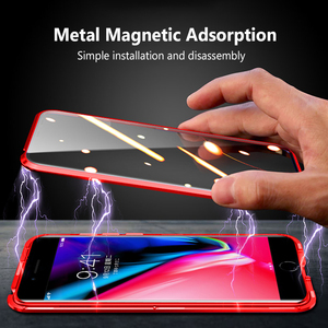 Image 3 - Case For iPhone SE 2020 Case Luxury Dual Tempered Glass Metal Magnetic Hard Cover For iPhone SE2 SE 2 Case Protective Bumper