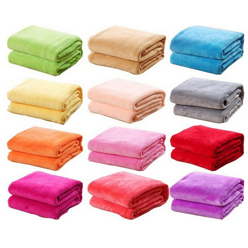 Fleece Blanket For Baby Swaddling Small Throw Rug Bedding Cover Case Sheets Flannel Velvet Warm Solid Warm Micro Plush