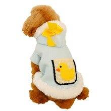 Одежда для собак зимняя теплая Милая пушистая куртка пальто щенок кошка толстовки костюмы Мопс французская одежда для бульдога
