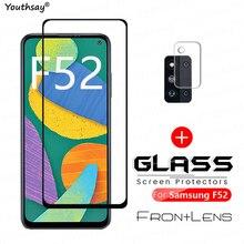 Pour Samsung Galaxy F52 Vitre En Verre Trempé pour Samsung F52 Verre Transparent Écran Caméra Film Protecteur Samsung Galaxy F52 5G