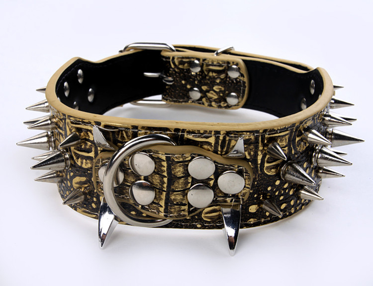 Alloy Ox Horn Cool Of Spike Pet Collar Big Dog Spike Neck Ring Manufacturers Direct Selling