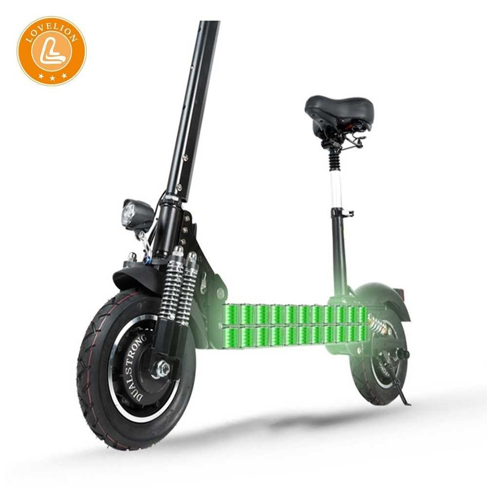LOVELION Off-road electric scooter folding electric mini adult 10 inch vacuum car Lithium battery city driving Portable scooter