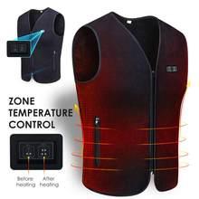 3-geschwindigkeit Einstellbar Temperatur Selbst-heizung Weste Waschbar USB Lade Beheizte Weste Winter Elektrische Sleeveless Heizung Jacke Mann