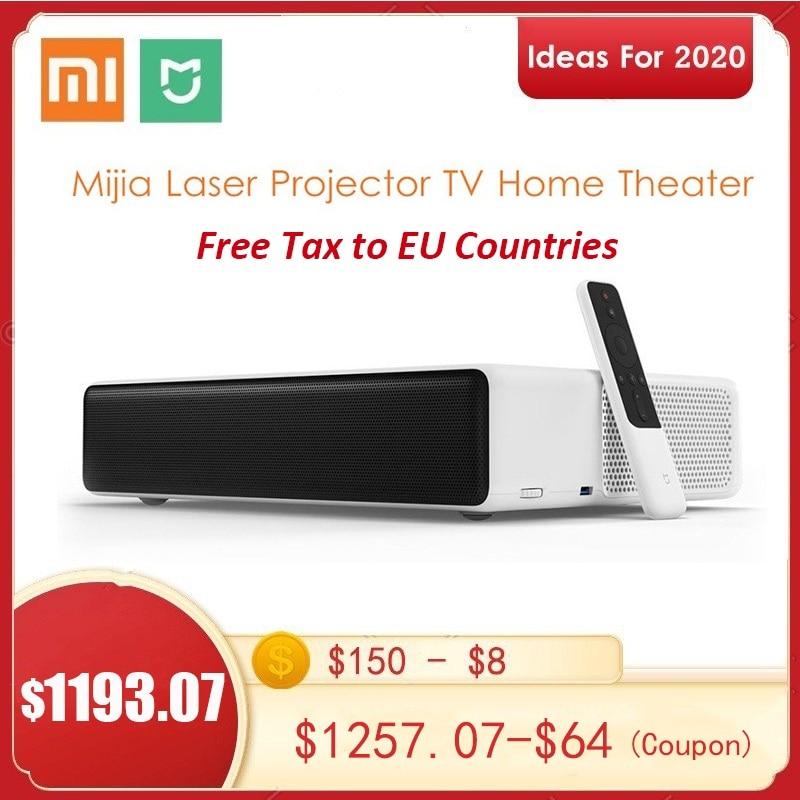 Versión en inglés Xiaomi Mijia Ultra Short Throw láser proyector de 150 pulgadas 5000 ANSI 1080P 4K Android Casa TV teatro WiFi BT