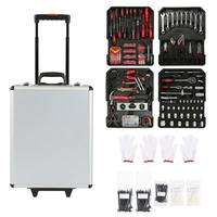 Durable Tool Trolley Set Compact 725 PCS Mobile Workshop Toolbox With Aluminum Alloy Carry Box Precision Tools Box